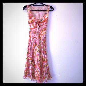 Emilio Pucci Geometric print silk dress